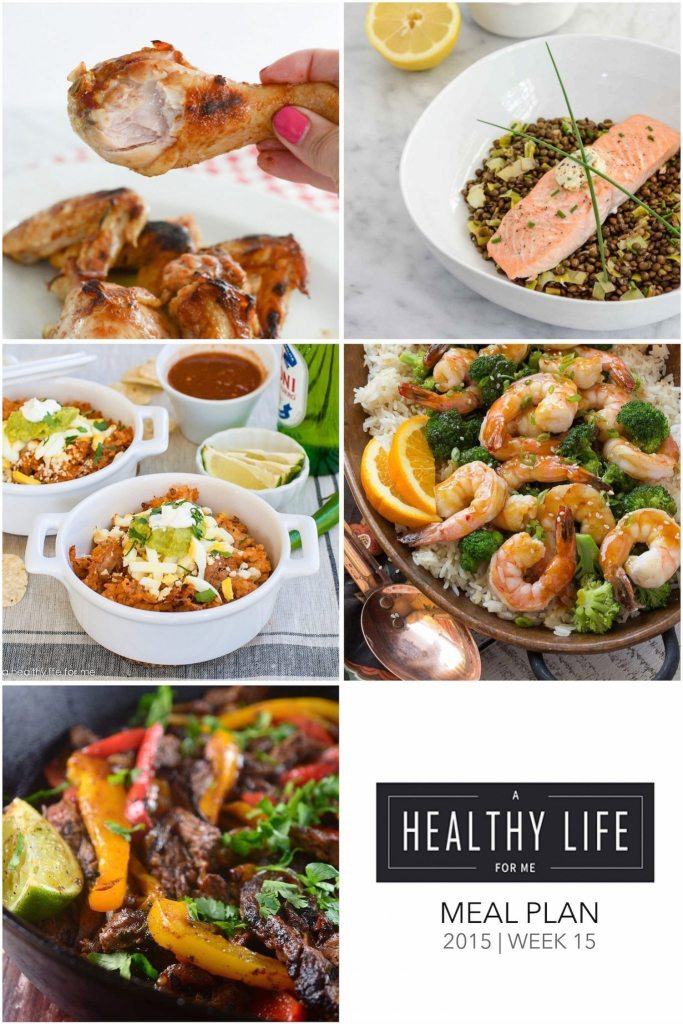 Weekly Meal Plan | ahealthylifeforme.com
