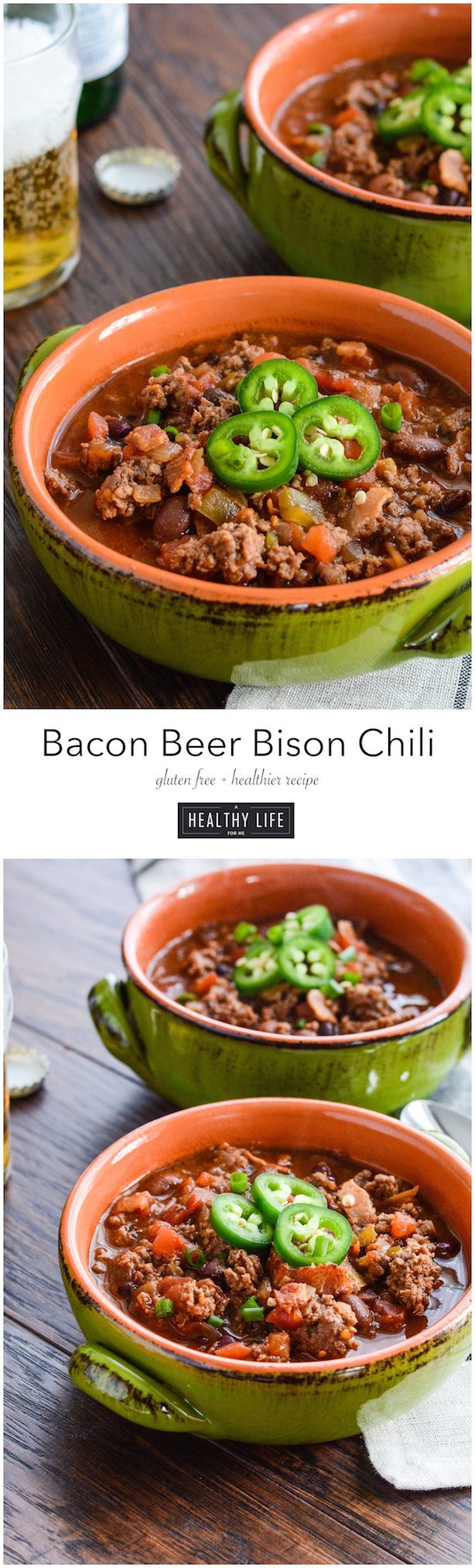 Bacon Beer Bison Chili | ahealthylifeforme.com