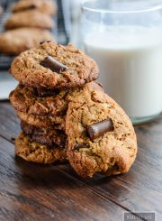 Cashew Coconut Chocolate Chip Cookies paleo gluten free recipe | ahealthylifeforme.com