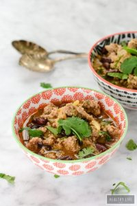 Turkey Sweet Potato Chili gluten free recipe | ahealthylifeforme.com