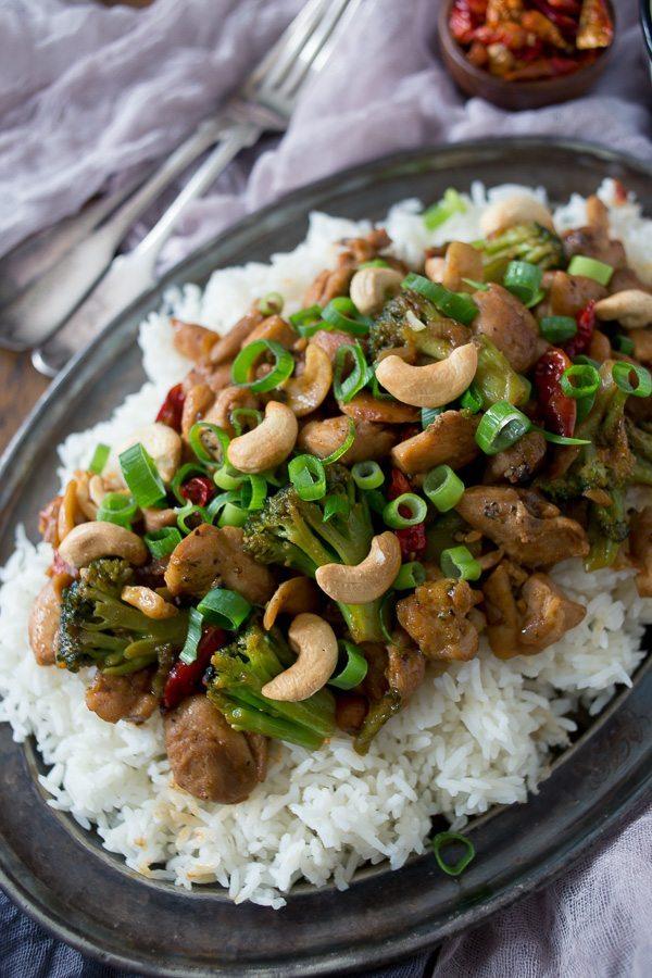 Spicy Cashew Chicken Recipe | nutmegnanny.com