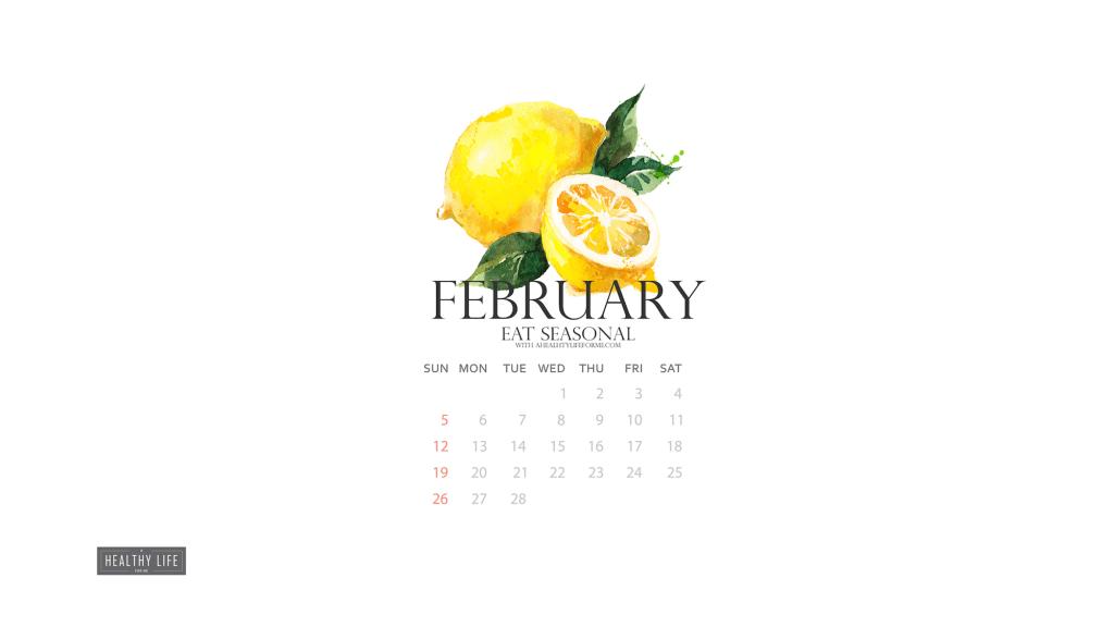 Free February Produce Calendar Wallpaper Download } ahealthylifeforme.com