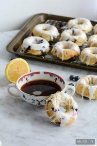Gluten Free Lemon Blueberry Donuts | ahealthylifeforme.com