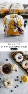 Gluten Free Lemon Blueberry Donuts | ahealthylifeforme.com