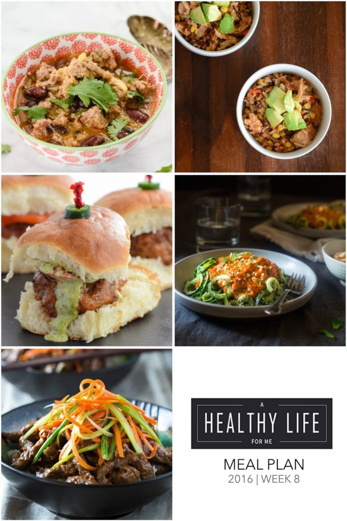 Healthy Weekly Meal Plan Week 8 | ahealthylifeforme.com