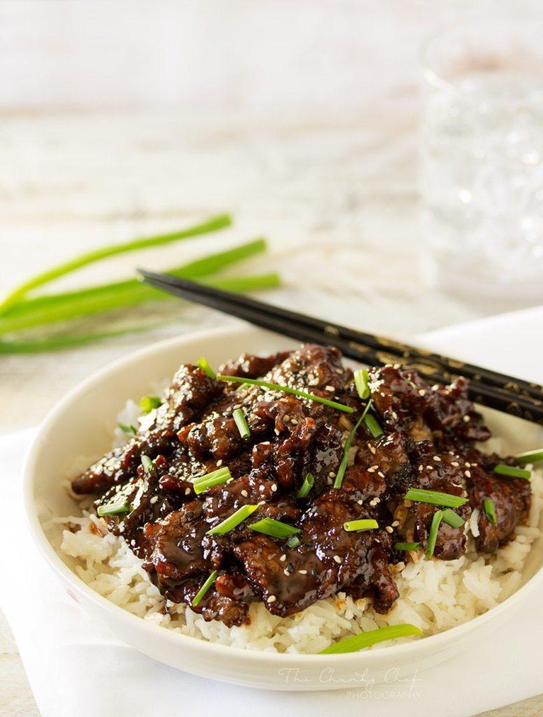 Mongolian Beef Recipe   The Chunky Chef