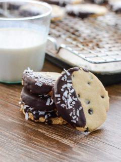 Double Chocolate Coconut Shortbread Cookies {paleo + gluten free}