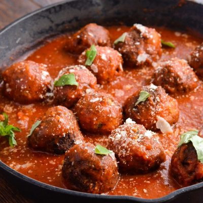 Eggplant Meatballs in Marinara