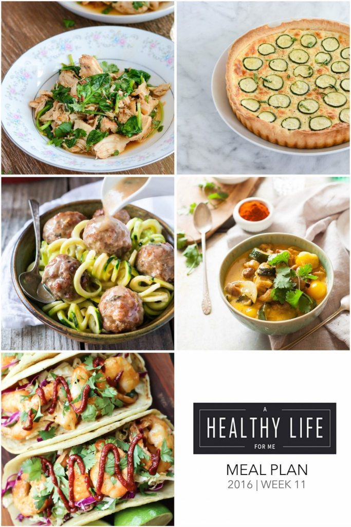 Weekly Meal Plan Week 11 | ahealthylifeforme.com
