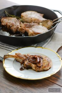 Balsamic Roasted Pork Chops gluten free whole30 paleo easy healthy diet recipe | ahealhtylifeforme.com