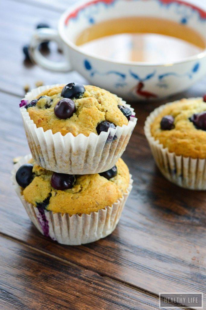 Blueberry Granola Breakfast Muffins Gluten Free Dairy Free Recipe   ahealthylifeforme.com