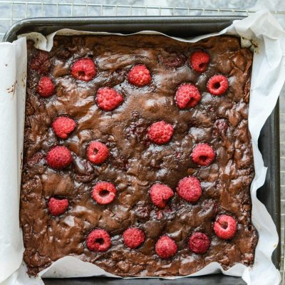Gluten Free Double Chocolate Raspberry Brownies