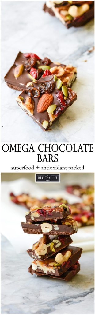 These Omega Chocolate Bars are the perfect healthy chocolate pick me up. Loaded with Omega-3 nutrients and tons of antioxidants this is a candy bar you can feel good about eating and enjoying   ahealthylifeforme.com
