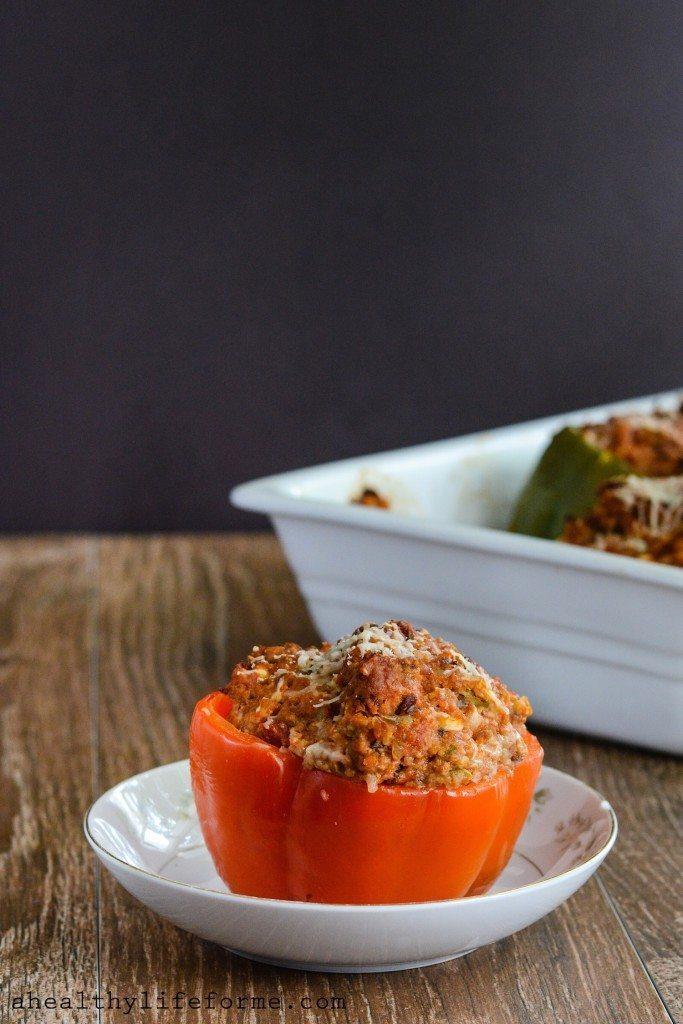 Italian Stuffed Pepper Recipe Gluten Free | ahealthylifeforme.com