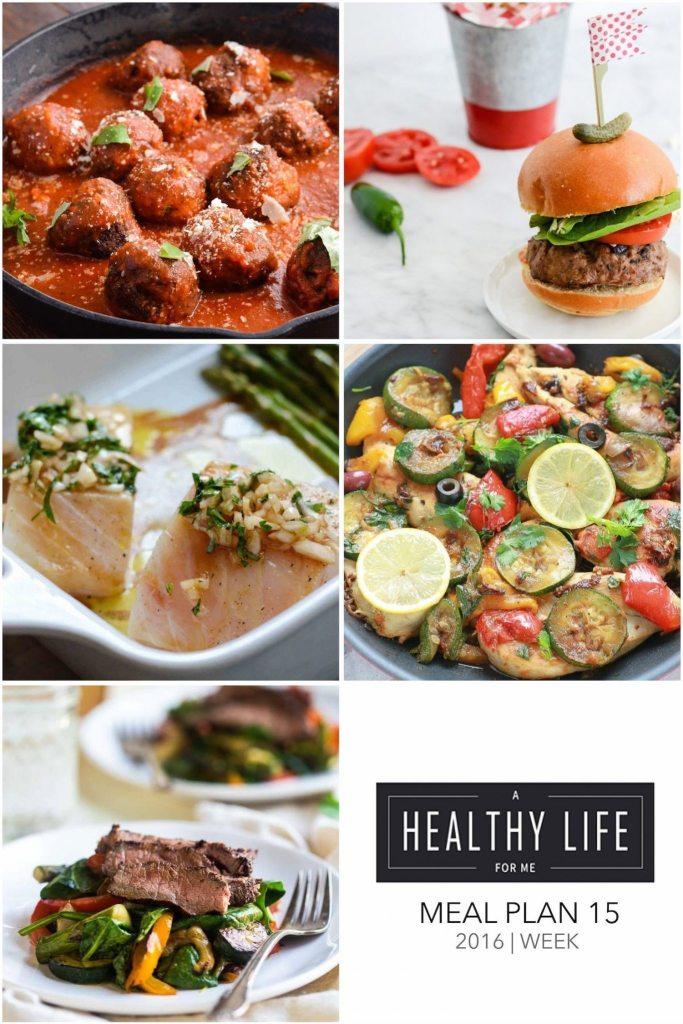 Weekly Meal Plan Week 15 Healthy Easy Recipes   ahealthylifeforme.com