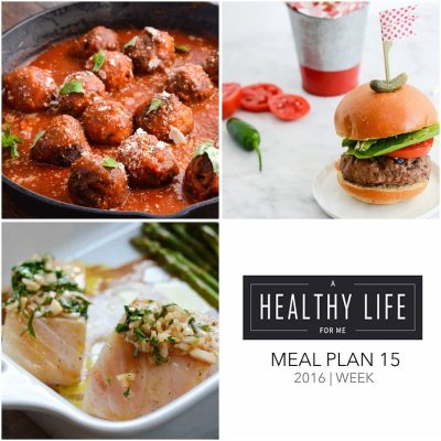 Weekly Meal Plan Week 15