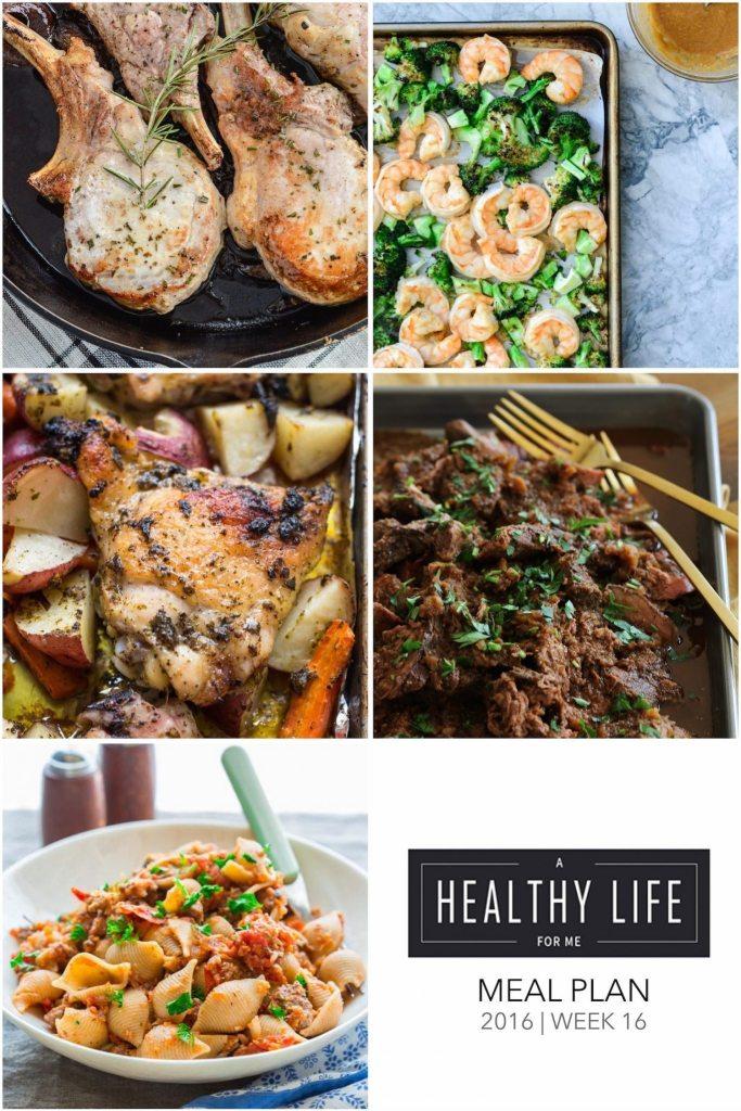 Healthy Weekly Meal Plan Week 16   ahealthylifeforme.com
