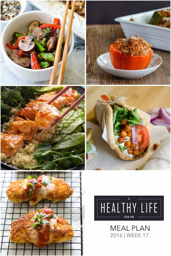 Healthy Weekly Meal Plan Week 17 | ahealthylifeforme.com