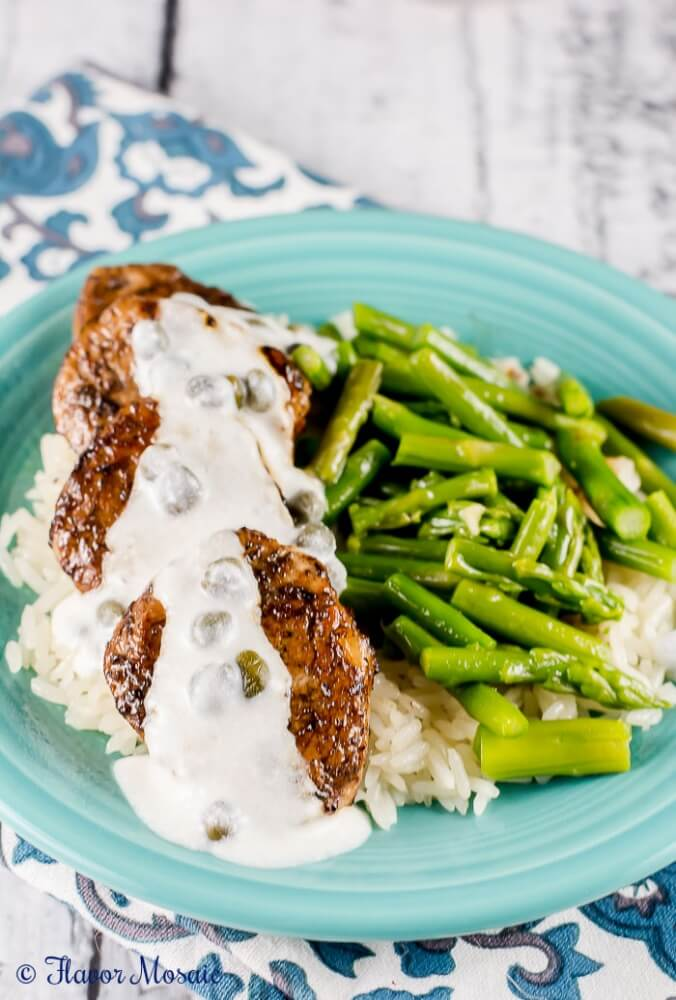 Balsamic Pork Medallion with Cream Sauce