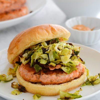 Spicy Salmon Burgers {Gluten Free}