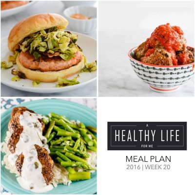 Weekly Meal Plan Week 20