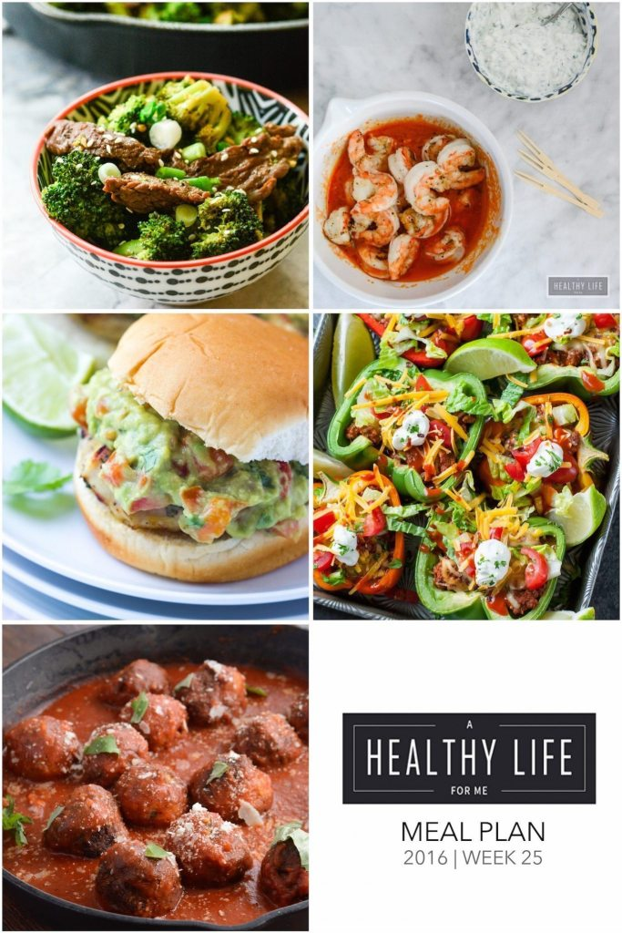 Weekly Meal Plan Week 25