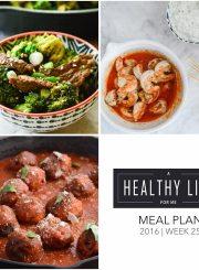 Healthy Meal Plan Week 25 | ahealthylifeforme.com