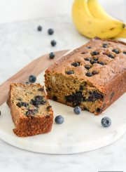 Gluten Free Banana Blueberry Bread is the perfect combination of two terrific fruits to give you a great tasting substantial bread, that is perfect in the morning with coffee or an afternoon snack | ahealthylifeforme.com