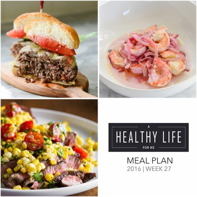 Weekly Meal Plan Week 27