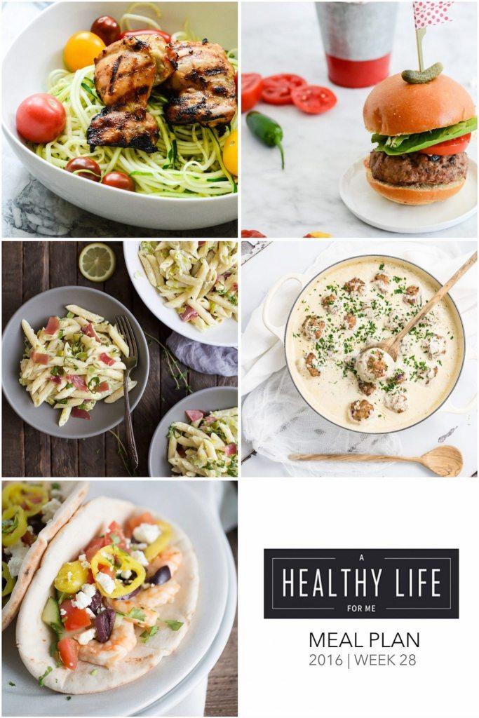 Healthy Weekly Meal Plan   ahealthylifeforme.com