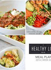 Healthy Weekly Meal Plan Week 30   ahealthylifeforme.com