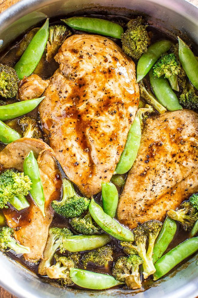 One skillet chicken with vegetables | averiecooks.com