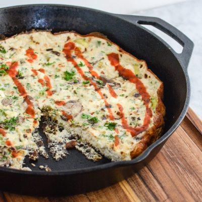 Leek Mushroom Egg White Frittata {gluten free}