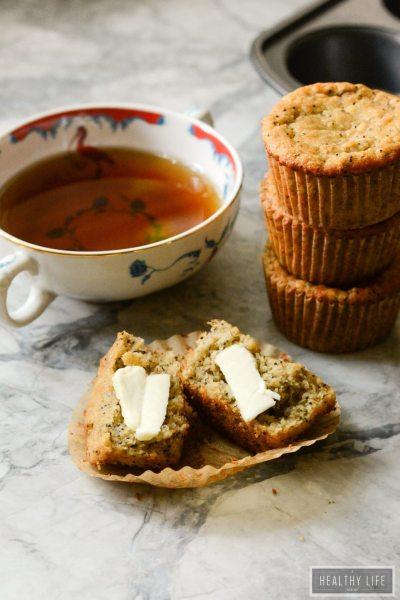Paleo Banana Poppyseed Muffins Recipe | ahealthylifeforme.com