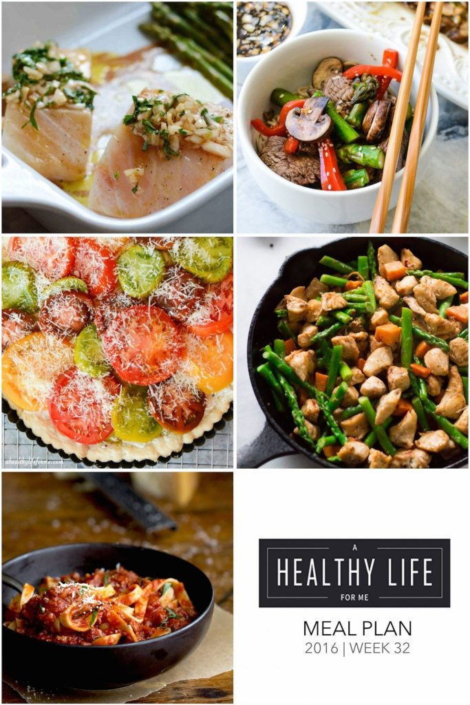 Healthy Meal Plan Week 32 | ahealthylifeforme.com