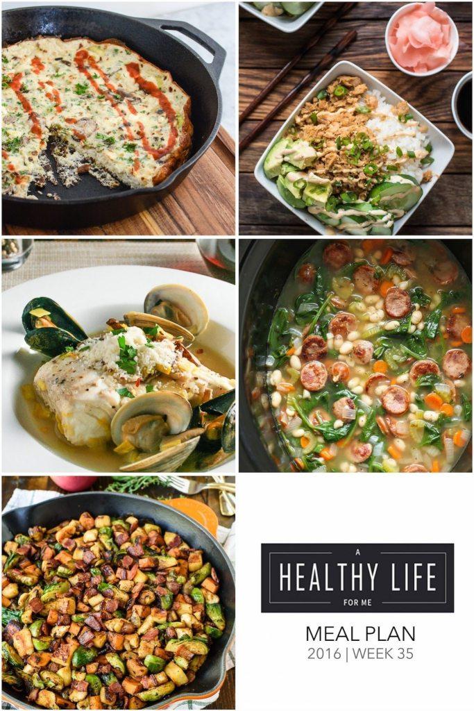 Weekly Meal Plan Week 35 | ahealthylifeforme.com