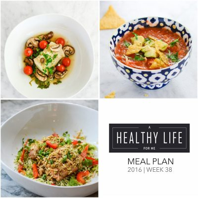 Weekly Meal Plan Week 38
