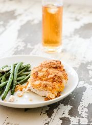 Gluten Free Oven Fried Chicken is a healthy twist on the classic fried chicken but with lower calorie and fat count | ahealthylifeforme.com