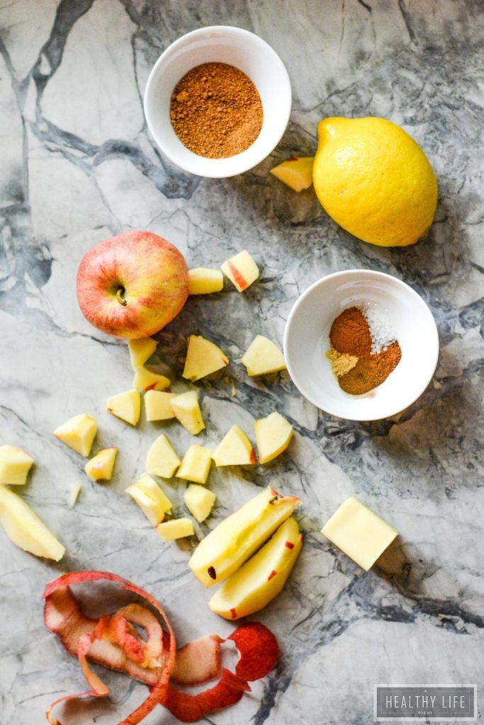 Each Paleo Apple Pie Cupcake is filled with apple pie filling, topped with honey butter frosting and a drizzle of caramel sauce | ahealthylifeforme.com