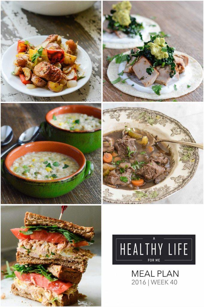 Healthy Weekly Meal Plan | ahealthylifeforme.com