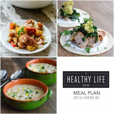 Weekly Meal Plan Week 40