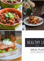 Weekly Meal Plan Week 41 | ahealthylifeforme.com