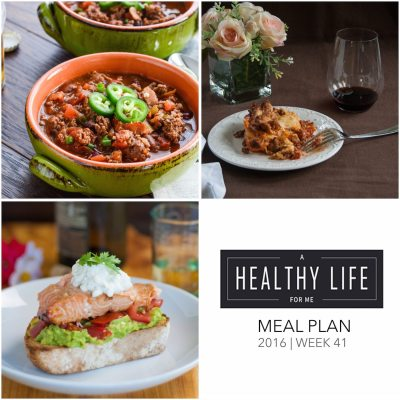 Weekly Meal Plan Week 41