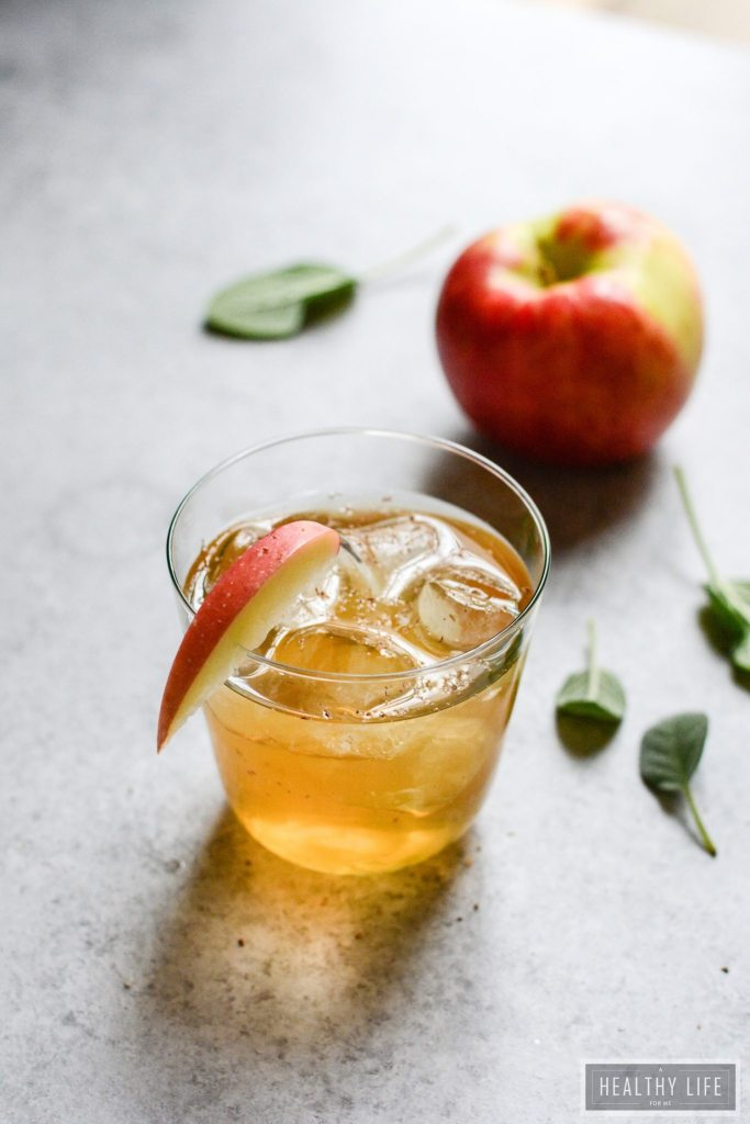 Fizzy Apple Cider Mocktail Recipe | ahealthylifeforme.com