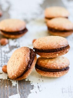 Hazelnut Chocolate Sandwich Cookies {gluten free + vegan}