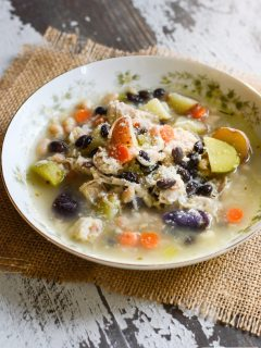 Potato Bean Turkey Soup {gluten free}