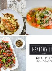 Healthy Meal Plan | ahealthylifeforme.com