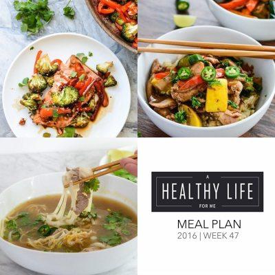 Weekly Meal Plan Week 47
