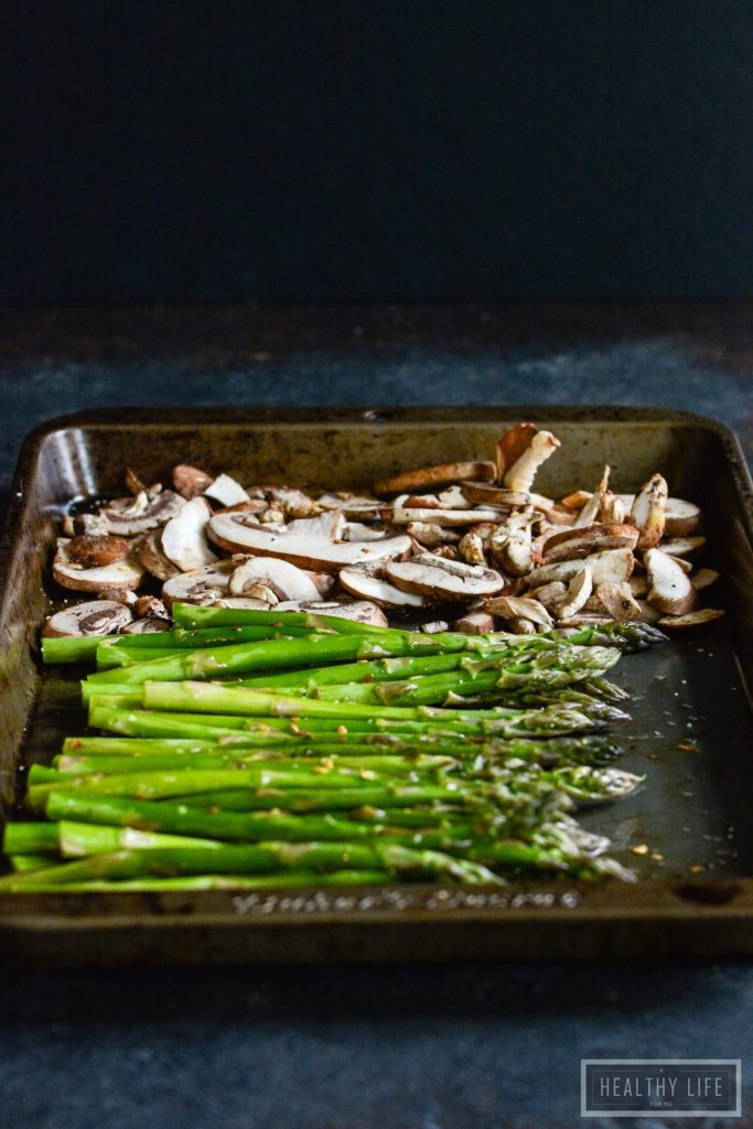 Roasted Mushrooms and Asparagus | ahealthylifeforme.com