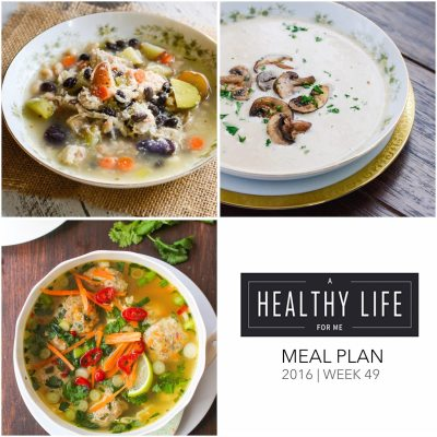Weekly Meal Plan Week 49